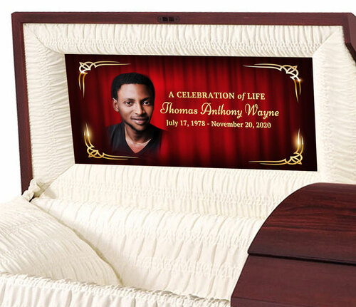 Crimson Personalized Casket Panel Insert