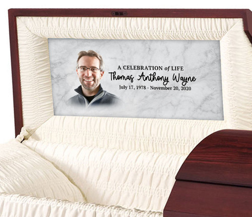 Marble Personalized Casket Panel Insert
