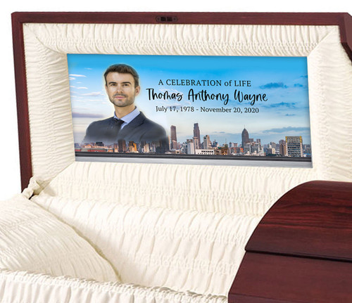 Big City Personalized Casket Panel Insert
