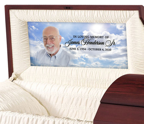 Custom Casket Panel Insert - Blue Skies Design