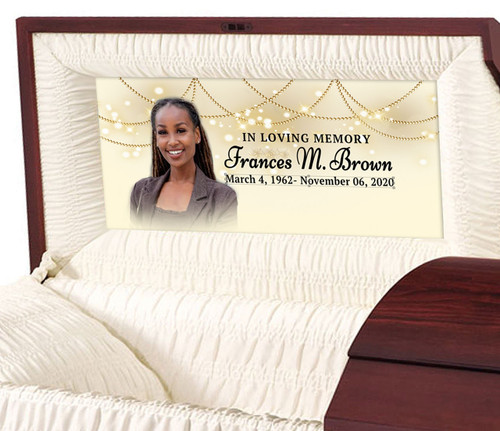 Custom Casket Panel Insert - Lighted Memory
