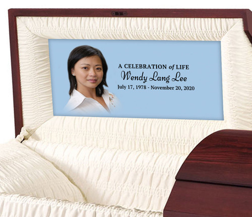Custom Casket Panel Insert - Solid Pastel Design