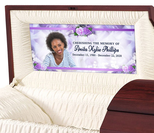Custom Casket Panel Insert - Rapture Design