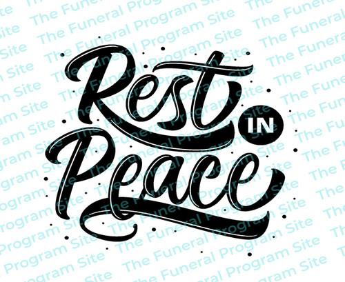 Rest In Peace 2 Funeral Program Title