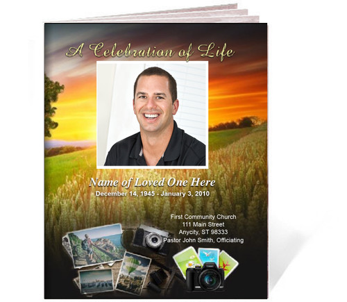 Photography Funeral Booklet Template