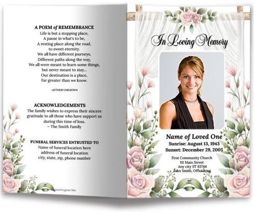 Viola Funeral Program Template