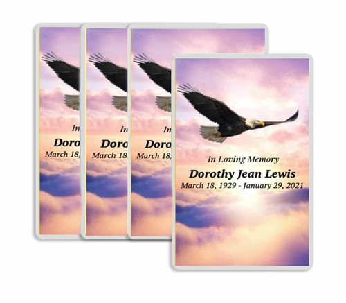 Eagle's Wings Funeral Prayer Card Design & Print