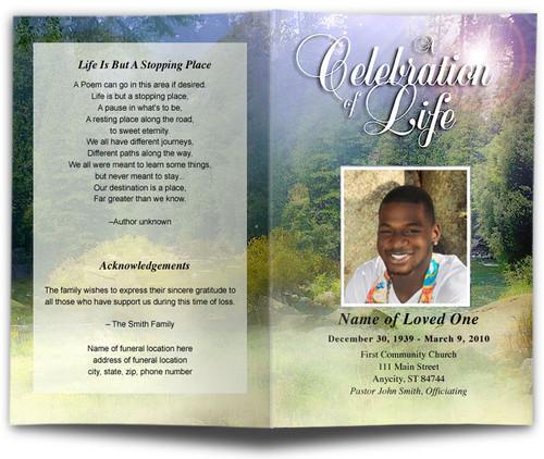 Serenity Funeral Program Template