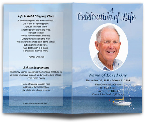 Tahoe Funeral Program Template