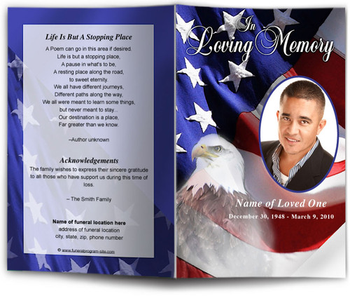 Freedom Funeral Program Template