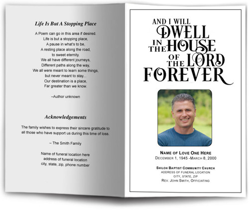 funeral template Dwell Funeral Program Template