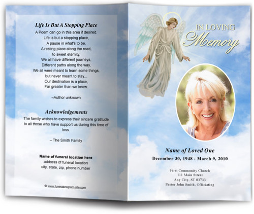 Devout Funeral Program Template light skin
