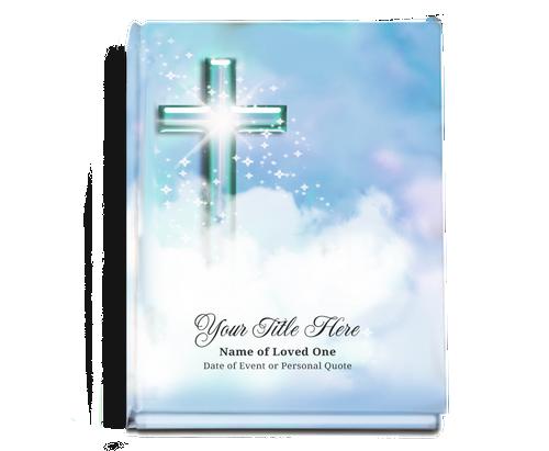 Adoration Perfect Bind 8x10 Funeral Guest Book Portrait