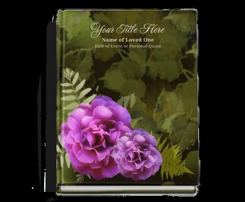 Essence Perfect Bind Memorial Funeral Guest Book 8x10