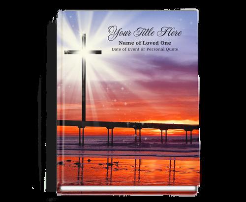 Glorify Perfect Bind Memorial Funeral Guest Book 8x10