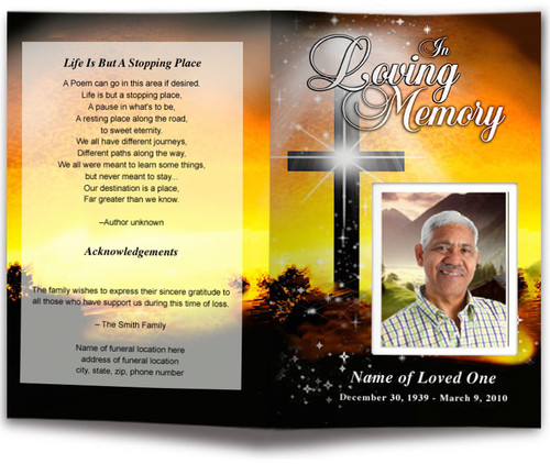 Splendor Funeral Program Template