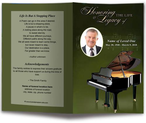 Grande Funeral Program Template