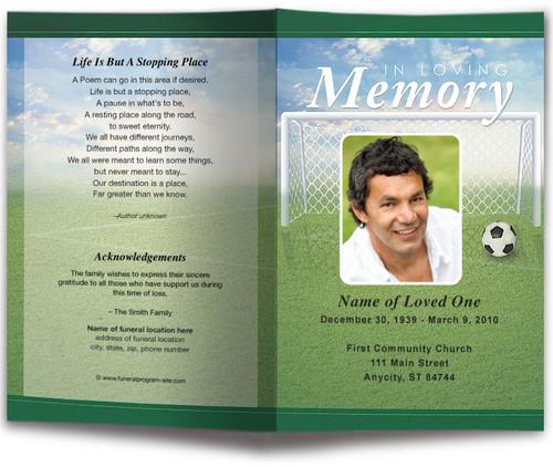 Soccer Funeral Program Template