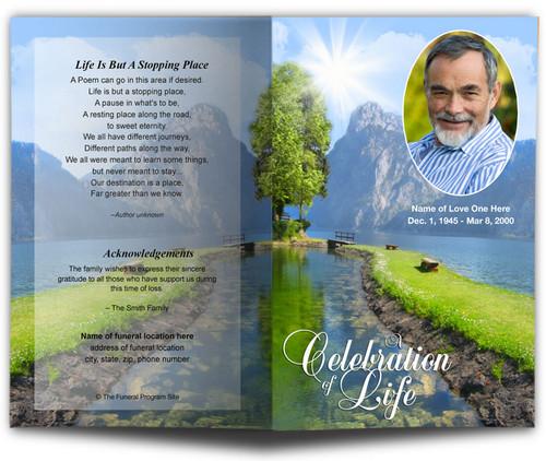 Reflection Funeral Program Template