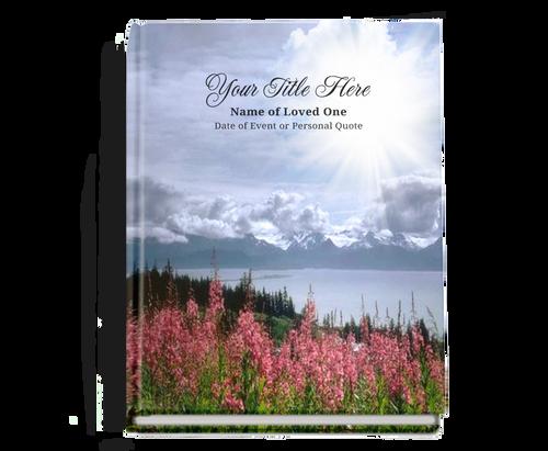 Seasons Perfect Bind Memorial Funeral Guest Book 8x10