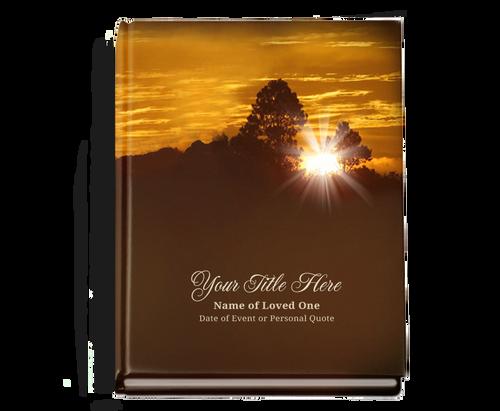Renewal Perfect Bind Memorial Funeral Guest Book 8x10