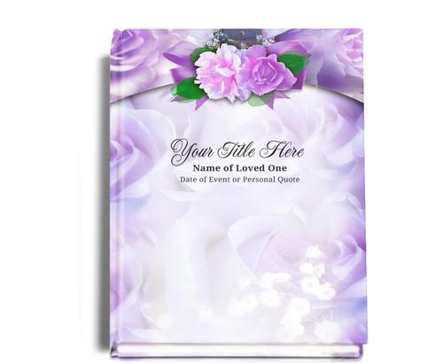 Rapture Perfect Bind Memorial Funeral Guest Book 8x10