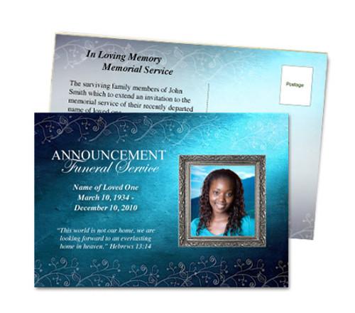 Devotion Funeral Announcement Template