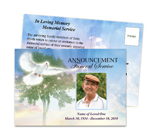 Gardener Funeral Announcement Postcard Template