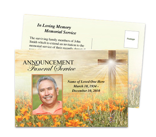 Savior Funeral Announcement Postcard