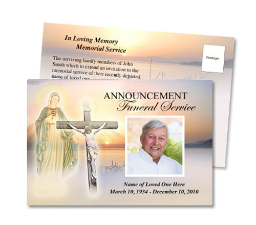 Vision Funeral Announcement Template