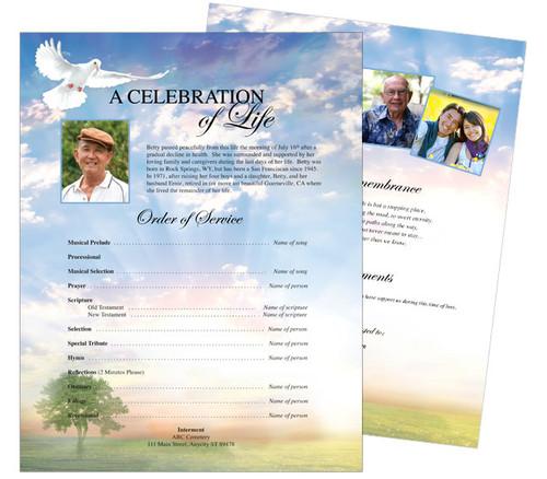 Gardener Funeral Flyer Template