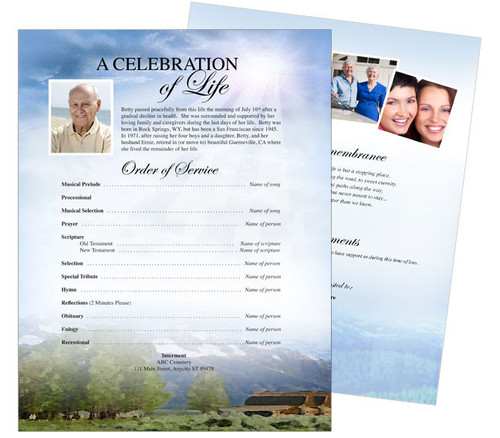 Outdoor Funeral Flyer Sheets Template