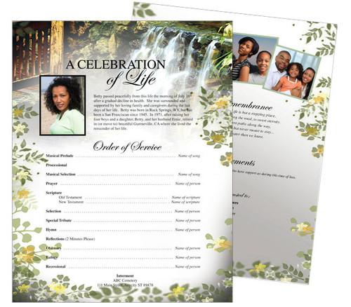 Serene Funeral Flyer Sheets Template