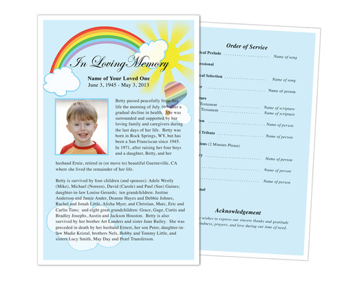 Bright Funeral Flyer Half Sheets Template