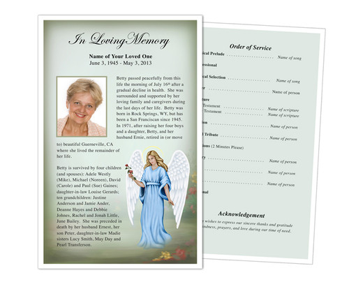 Charity Funeral Flyer Half Sheets Template