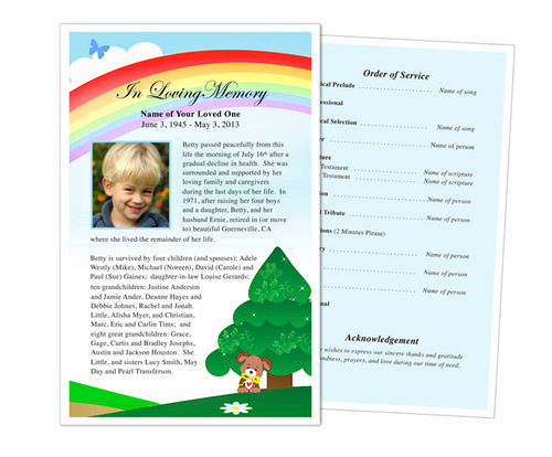 Delight Funeral Flyer Half Sheets Template