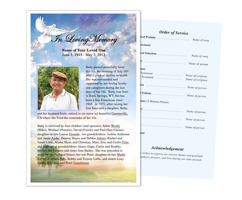 Gardener Funeral Flyer Half Sheets Template