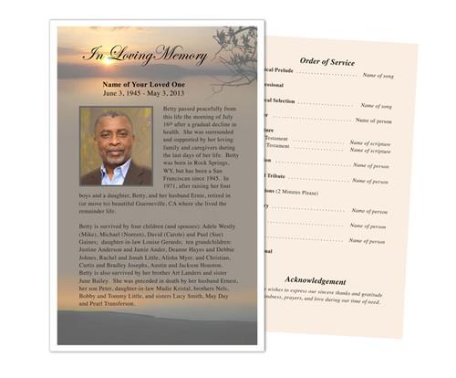 Kenya Funeral Flyer Half Sheets Template