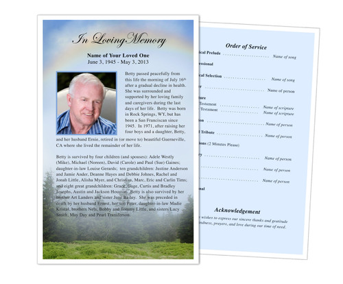 Promise Funeral Flyer Half Sheets Template