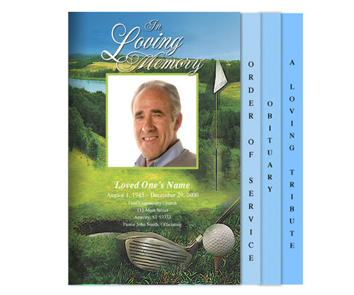 Golfer Legal 8-Sided Graduated Program Template
