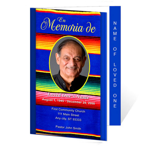Acapulco Letter 4-Sided Graduated Funeral Program Template