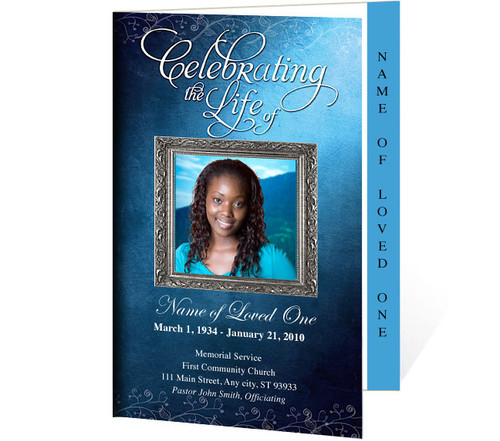 Devotion Letter 4-Sided Graduated Funeral Program Template