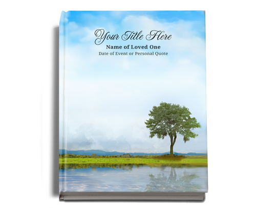 Treasure Perfect Bind Funeral Guest Sign-In Book 8x10