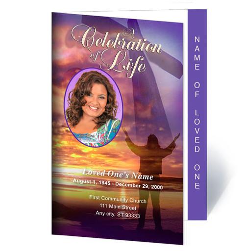 Worship 4-Sided Funeral Graduated Program