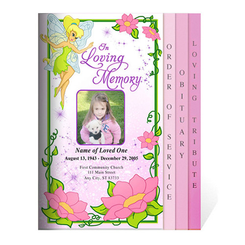 Fairy 8-Sided Graduated Funeral Program Template