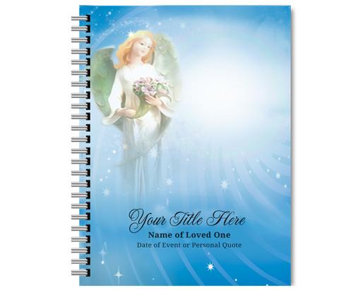 Angelica Spiral Wire Bind Memorial Guest Book