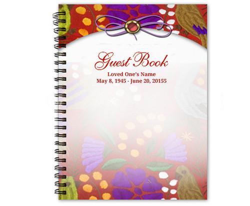 Bonita Spiral Wire Bind Memorial Guest Book
