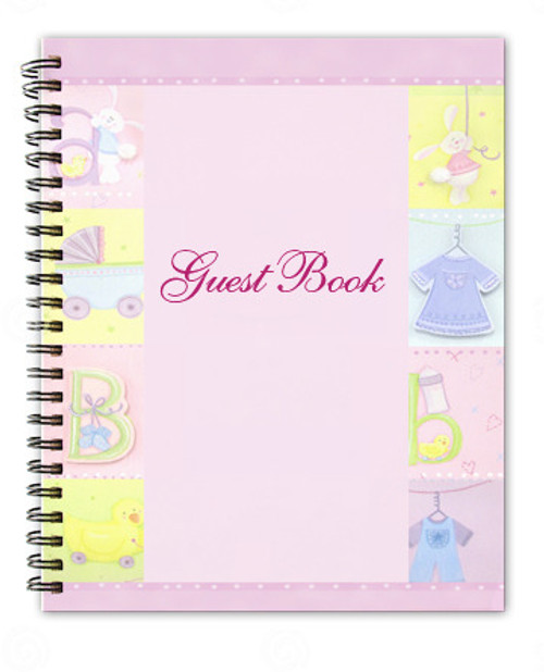 Darling Spiral Wire Bind Memorial Guest Book
