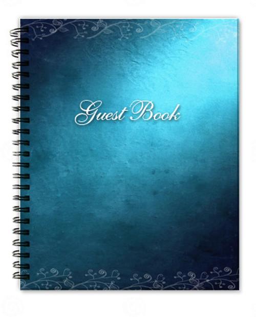 Devotion Spiral Wire Bind Memorial Guest Book Registry