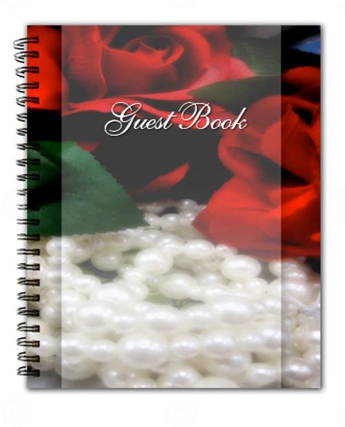 Elegance Spiral Wire Bind Memorial Guest Book Registry